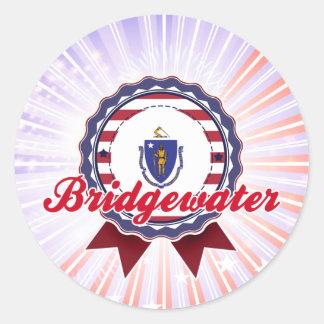 Bridgewater, mA Pegatinas Redondas