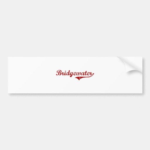 Bridgewater Massachusetts Classic Design Car Bumper Sticker