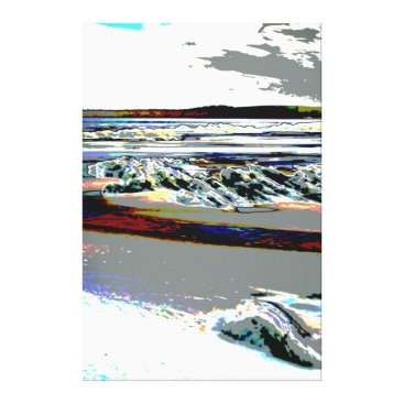 Beach Themed Bridgewater N.S. Riser's Beach Abstract print art