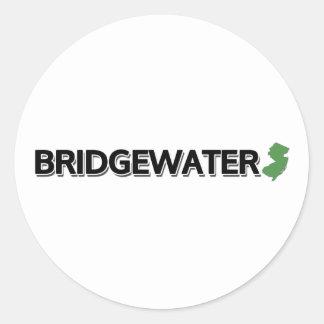 Bridgewater, New Jersey Etiqueta Redonda