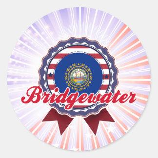 Bridgewater, NH Pegatina Redonda