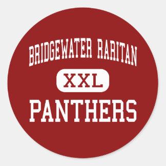 Bridgewater Raritan - panteras - Bridgewater Etiquetas Redondas