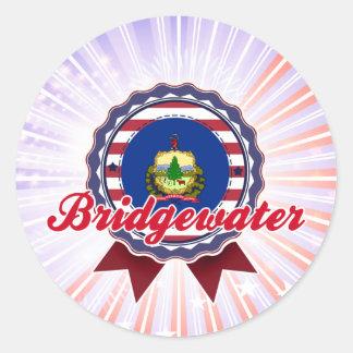 Bridgewater, VT Etiquetas Redondas