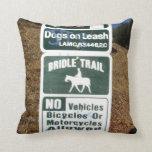 Bridle Trail Sign Pillows
