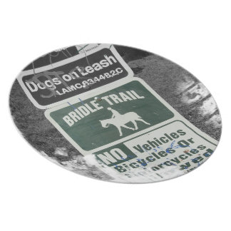 Bridle Trail Sign Dinner Plate