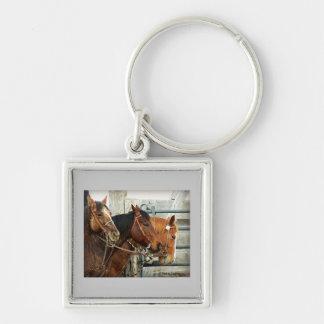 Bridled Horse Heads Keychain