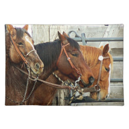 Bridled Horse Heads Placemat