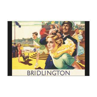 Bridlington_Vintage Travel Poster Artwork Canvas Print
