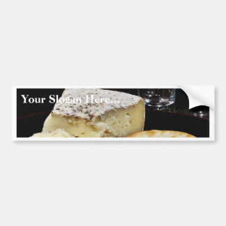 Brie Cheese And Crackers Bumper Sticker