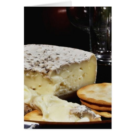 Brie Cheese And Crackers Greeting Card
