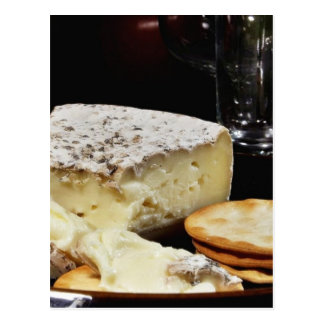 Brie Cheese And Crackers Postcard