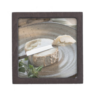 Brie cheese on plate keepsake box