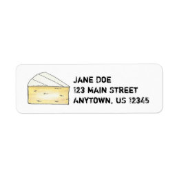 Brie Cheese Wedge Creamy French Food Cooking Chef Label