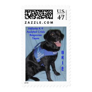 BRIE, Indiana K-9Assisted CrisisRespo... Postage