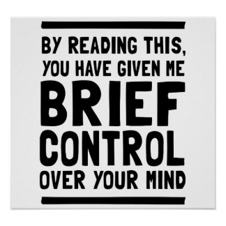 Brief Control Over Your Mind Poster