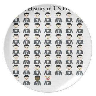 Brief History of US Presidents Melamine Plate