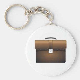 Briefcase Basic Round Button Keychain