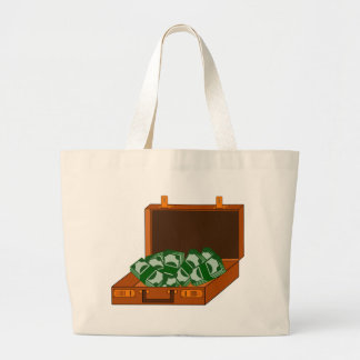 Briefcase Full of Money Large Tote Bag