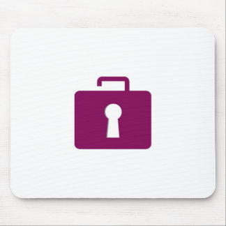 Briefcase lock graphic mouse pad