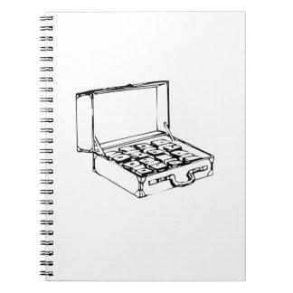Briefcase of Cash Spiral Notebook
