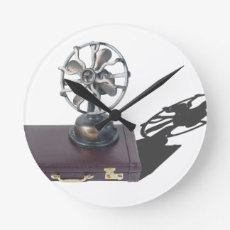 BriefcaseAndFan081914 copy.png Round Clock