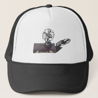 BriefcaseAndFan081914 copy.png Trucker Hat
