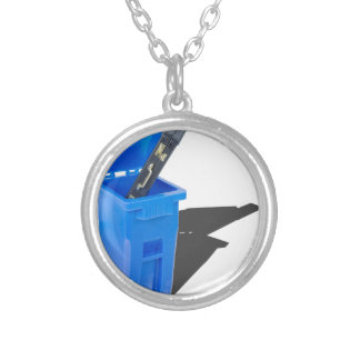 BriefcaseInRecyclingBin061315.png Silver Plated Necklace