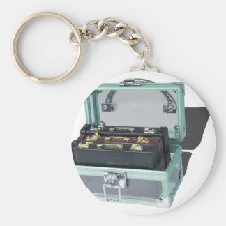 BriefcaseInSeeThroughTrunk061315.png Basic Round Button Keychain