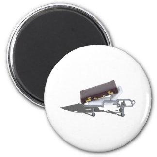 BriefcaseOnGurney111311 2 Inch Round Magnet