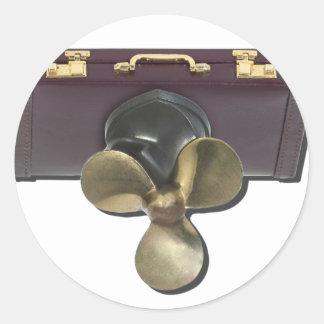 BriefcasePropeller081212.png Classic Round Sticker