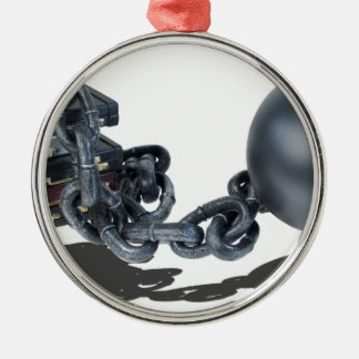 BriefcasesBoundByBallAndChain061315.png Metal Ornament