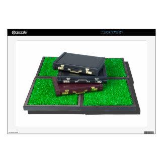 "BriefcasesOnLawn061315.png 17"" Laptop Skins"