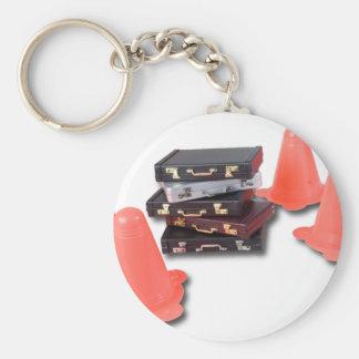 BriefcasesWithTrafficCones061315.png Basic Round Button Keychain