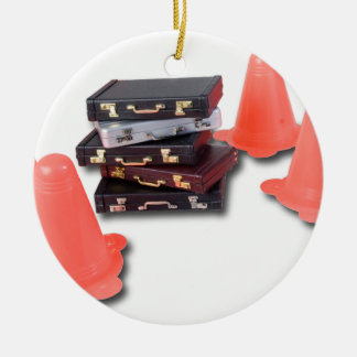 BriefcasesWithTrafficCones061315.png Ceramic Ornament