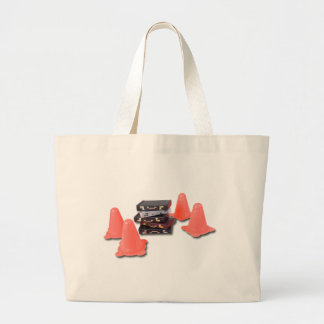 BriefcasesWithTrafficCones061315.png Large Tote Bag