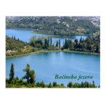 briefkaart voor Bacinska meren, Kroatië Postal