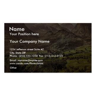 Brieg Valais Alps of Switzerland vintage Photoc Business Cards