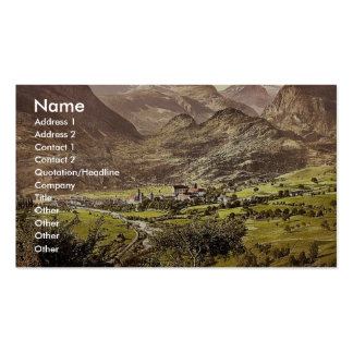 Brieg Valais Alps of Switzerland vintage Photoc Business Card Template
