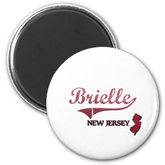 Brielle New Jersey City Classic 2 Inch Round Magnet