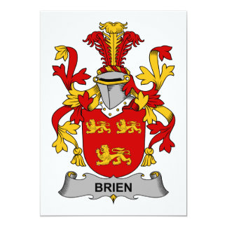 Brien Family Crest Card