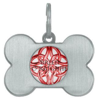Brien O'Raighne Celtic Knot Logo Pet Name Tags