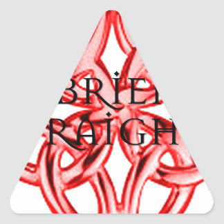 Brien O'Raighne Celtic Knot Logo Triangle Sticker