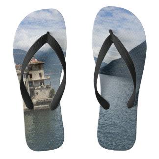 Brienno Lake Como Italy Europe Travel Souvenir Flip Flops