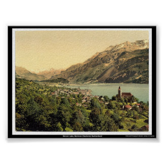 Brienz Lake, Bernese Oberland, Switzerland Poster