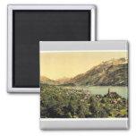 Brienz Lake, Bernese Oberland, Switzerland vintage Magnets