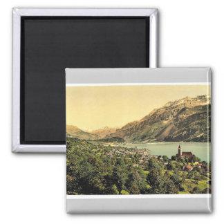Brienz Lake, Bernese Oberland, Switzerland vintage Magnet