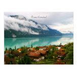 Brienz Suiza y lago Brienzersee del verde azulado Postales