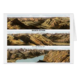 BRIENZER-ROTHORN Swiss Alps Panorama 360° Card