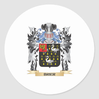 Brier Coat of Arms - Family Crest Classic Round Sticker