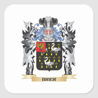 Brier Coat of Arms - Family Crest Square Sticker